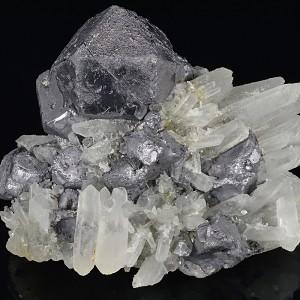 Rhombohedral Galena, Quartz