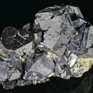 Truncated Galena, Sphalerite, Pyrite, Chalcopyrite