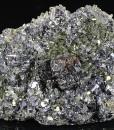 Sphalerite tetrahedron, Galena, Quartz, Pyrite