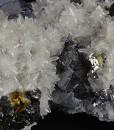 Truncated Galena, Sphalerite set on Quartz
