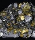 Chalcopyrite, truncated Galena, Sphalerite, Pyrite