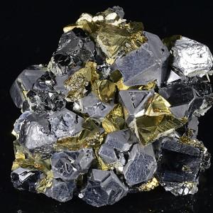 Chalcopyrite, truncated Galena, Sphalerite, Calcite