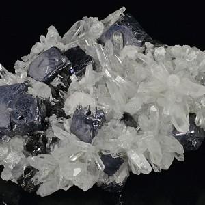 Galena, Sphalerite set on Quartz