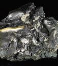Melted habit Galena, Calcite, Chalcopyrite