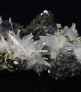 Quartz, iridescent Sphalerite, Pyrite, Galena