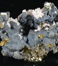 Chalcopyrite, Pyrite, Quartz, Calcite, Rhodochrosite