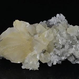Rhombohedral Calcite, Quartz, Pyrite