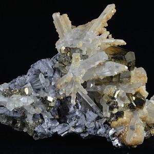 Quartz, Pyrite, Galena, Calcite