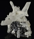 Sphalerite tetrahedron, Quartz