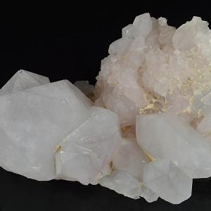 Quartz crystals, Calcite