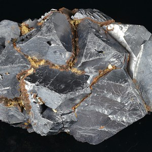 Truncated Galena with Siderite inclusions
