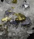 Chalcopyrite and Galena set on Quartz