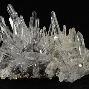Quartz, Galena, Sphalerite, Pyrite