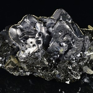 Melted habit Galena, Sphalerite, Pyrite, Quartz, Calcite