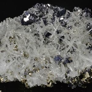 Quartz, Galena, Pyrite