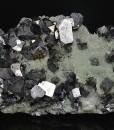 Truncated Galena, Quartz, Chalcopyrite