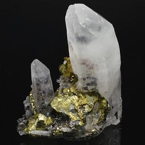 Quartz, Chalcopyrite, Pyrite, Sphalerite