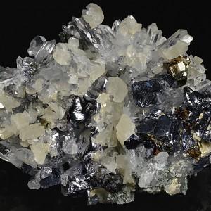 Galena, Quartz, Pyrite, Calcite, Sphalerite