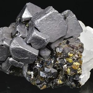 Skeletal Galena, gem Sphalerite var.Cleiophane, Quartz