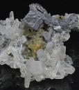 Quartz, Skeletal Galena, Chalcopyrite