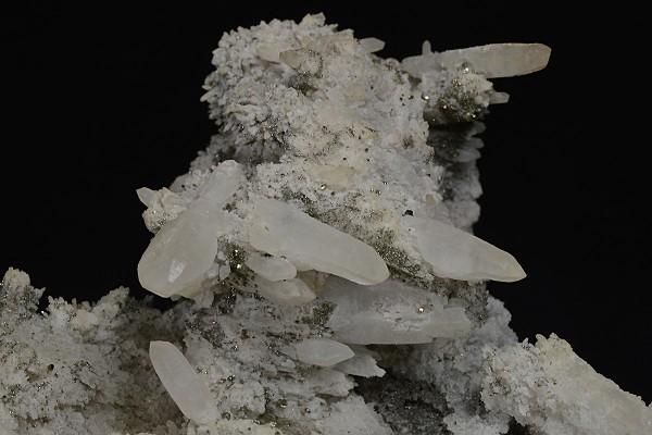 Quartz, Pyrite - floater, Sphalerite