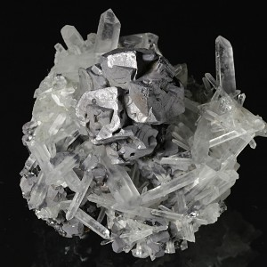 Galena on Quartz, Sphalerite