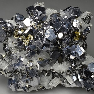 Truncated Galena, Sphalerite, Quartz, Pyrite, Chalcopyrite