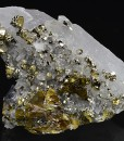Cleiophane, Pyrite, Galena on Quartz