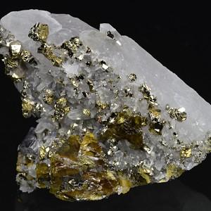 Cleiophane, Pyrite, Galena on Quartz