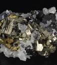 Pyrite, Chalcopyrite, Sphalerite, Quartz