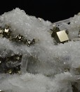 Pyrite on Quartz