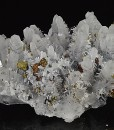 Quartz with growth phantoms, Galena, Chalcopyrite, Pyrite