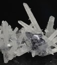 Galena on two generations Quartz