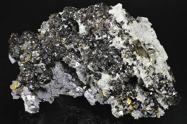 Galena, Sphalerite, Pyrite, Quartz, Chalcopyrite