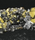 Octahedral Chalcopyrite, Sphalerite, Galena, Quartz