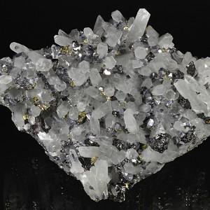 Quartz, Sphalerite, Galena, Chalcopyrite, Pyrite