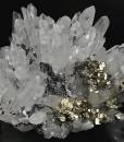 Quartz, Pyrite, Sphalerite