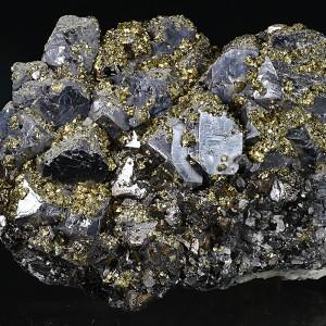 Galena, Sphalerite, Chalcopyrite - floater, Quartz