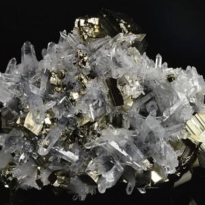 Pyrite, Bi-terminated Quartz