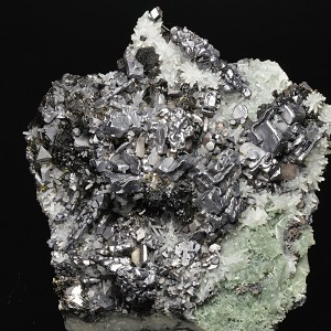 Skeletal Galena, Sphalerite, Japan Law Twin Quartz