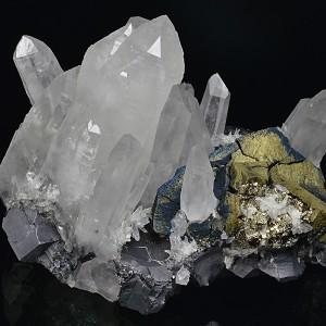 Iridescent Chalcopyrite, Quartz, Galena, Pyrite