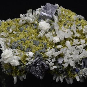 Quartz, Calcite, Galena, Sphalerite