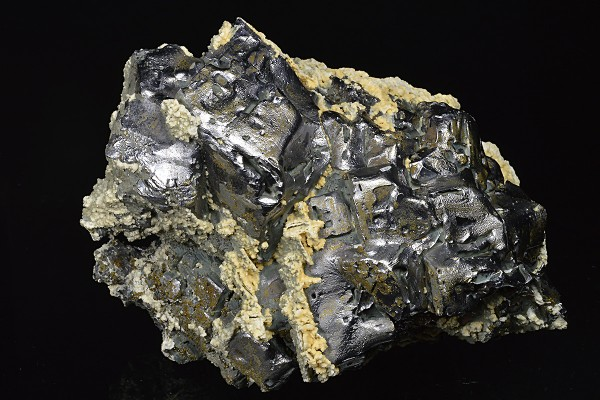 Melted habit Galena, Calcite,Chalcopyrite - floater