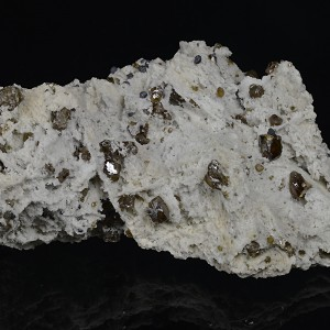 Cleiophane and Galena on Quartz and Calcite