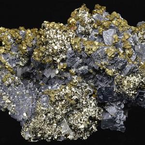 Spinel Law Twin Galena, Chalcopyrite, Pyrite, Quartz