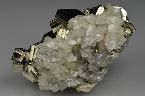 Pyrite, Calcite, Quartz