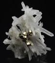 Bi-terminated Quartz, Pyrite, Calcite