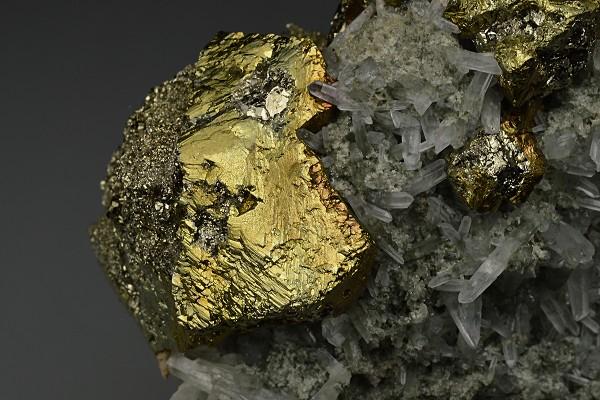 Iridescent Chalcopyrite, Pyrite, Quartz, Galena, Sphalerite