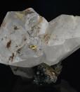 Manganoan Calcite, Quartz, Chalcopyrite