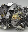 Sphalerite, truncated Galena, Chalcopyrite, Quartz